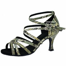 TPS Green Snake Skin Pattern Latin Ballroom Salsa Dance Shoes All Sizes D785