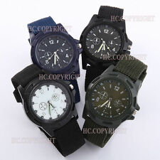 Night Vison Military Army Mens Date Day Nylon Strap Quartz Sport Wrist Watch