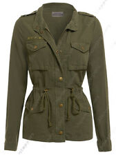 Size 10 12 14 16 18 20 Women's CANVAS MAC Ladies TRENCH JACKET HOODED COAT LINED