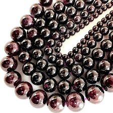 "Natural Garnet Round Beads 15"", 2, 3, 5, 6, 8, 10mm, pick your size"