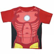 MARVEL COMICS AVENGERS AGE OF ULTRON IRON MAN RED KIDS BOYS T-SHIRT TOP AGES 2-7