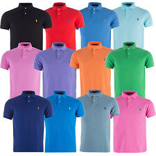 Mens Polo Ralph Lauren Custom Fit Mesh Polo In Various Colours Get The Label