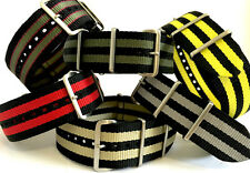 Panatime Nylon Nato® with Double Stripe and Steel Square Rings