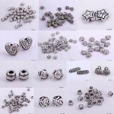 10pcs Metal Spacer Beads Tibetan Silver Assorted Shape Craft Beads Findings DIY