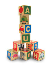 Melissa & Doug Abc 123 Wooden Blocks - Early Learning -NEW!