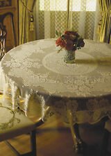 Classic Victorian Rose Tablecloth by Heritage Lace, Choice of 3 Sizes & 2 Colors