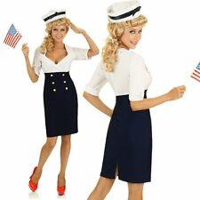 Adult Pin Up 50s Rockabilly Sailor Costume 1950s Clothing Fancy Dress Outfit