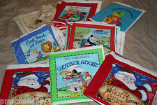 FLAW Cotton Fabric Book Panels Thomas Prayer Dexter Manner Rudolph & more miscut