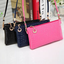 Women Crocodile Leather Handbag Messenger Clutch Zipper Shoulder bags