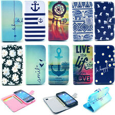 For Samsung Galaxy Phone Wallet Pattern Flip Phone Leather Stand Case Cover