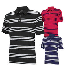 2014 Adidas PureMotion Heather 3 Stripes Golf Polo CLOSEOUT NEW