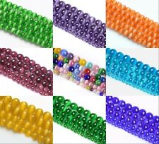 Fashion Cat's Eye Round Ball Crystal Glass Loose Spacer Beads 4/6/8/10mm
