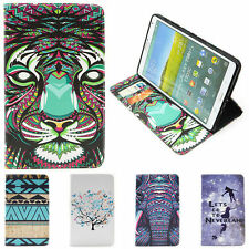 Tiger Elephant Tattoo tribe neverland Wallet card Leather Case Cover Fr Tablet