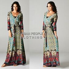 Shifting Seasons Moroccan Mosaic Boho Wrap Maxi Dress Bohemian Clothing 1XL PLUS