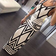 Sexy Women Summer Party Evening Bandage Bodycon Celeb Print Cocktail Party Dress