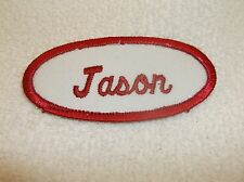 JASON USED EMBROIDERED VINTAGE SEW ON NAME PATCH TAGS ASSORTED COLORS