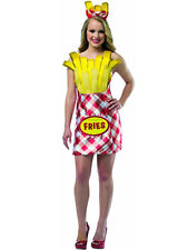 Adult Ladies French Fries Chips Novelty Fast Food New Fancy Dress Costume Hen
