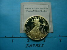 1933 GOLD DOUBLE EAGLE PROOF TRIBUTE COMMEMORATIVE MEDALLION E46