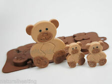 4+1 Teddy Bears Woodland Animals Chocolate Silicone Bakeware Cake Mould Candy