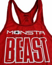 Monsta Clothing Mens Workout Bodybuilding Unleash Beast Red Racerback Tank Top