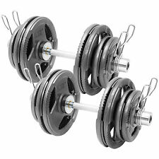 "MIRAFIT Olympic 2"" Dumbbells Tri Grip Weight Set Cast Iron Dumbell/Free Weights"
