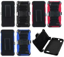 NP CITY Quality Phone Case + Holster Belt Clip For Huawei Pronto / H891L / G620