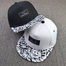 Unisex Men Women Snapback Adjustable Hip-Hop Bboy Baseball Cap Flat Peaked Hat