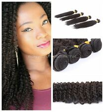 "100% Peruvian Virgin Human Hair Weft Kinky Curly Hair Extension 8""-30"" Weave 50G"