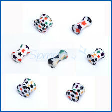 Acrylic 7Sizes Double Flare Flesh Tunnels Taper Expander Stretcher Plug 3mm-14mm