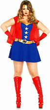 Wonder Woman Marvel Comic Book Superhero Heroine Cosplay Adult Costume PLUS SIZE