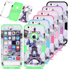 New Eiffel Tower Pattern Printed Shockproof Rugged Case Cover For iPhone 5C 6 6S