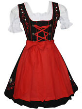 DIRNDL Trachten German Oktoberfest DRESS 3-Piece SHORT Sun Swing Party Waitress