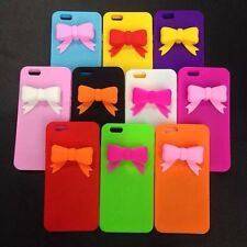 Cute 3D Bowknot Soft Silicone Back Case Cover for iPhone 6 Plus , iPhone 6 5s 5
