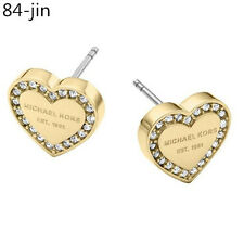 Occident New Style Lady Fashion Elegant heart Letters Crystal Ear Studs Earrings