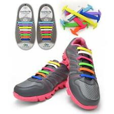 Elastic Silicone Shoelaces No Tie Laces Shoe Sneakers Trainer Kids Disability