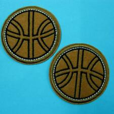 2 Basketball Sports Iron Sew on Patch Cute Applique Badge Embroidered Biker Lots