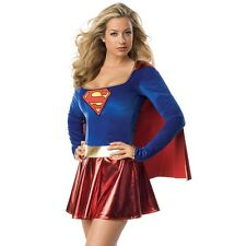 Womens Supergirl Superhero DC Comics Super Hero Woman Dress Party Outfit Costume