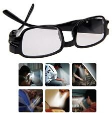 Unisex Rimmed Reading Eye Glasses Eyeglasses Spectacal With LED Light Black