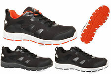 MENS GROUNDOWRK STEEL TOE CAP SAFETY LACE WORK LIGHTWEIGHT TRAINERS SHOES SIZE