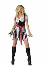 Ladies Playful Pirate Sexy Swashbuckler Carribean Fancy Dress Costume