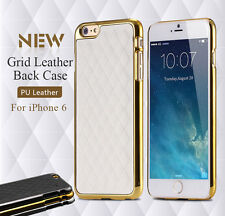"""Luxury Retro Sheep Grid PU Leather Hard Back Case Cover For Apple iPhone 6 4.7"""""""