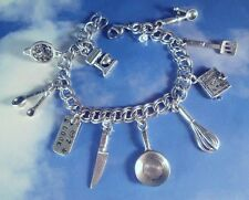 Tarnish Resistant 10-15 Cooking Charms Bracelet Food Cook Culinary Mixer Chef