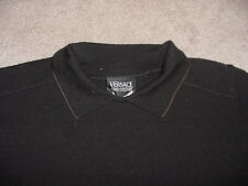 Womens Versace Jeans Couture Black & Gold  Sweater Top SZ SM