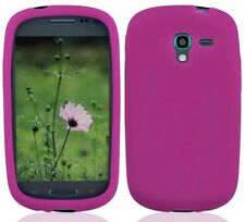 for Samsung Galaxy Exhibit / Ace 2-E - HOT PINK Silicone Skin Gel Case