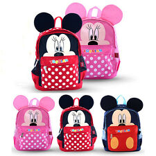 Kindergarten School Book Bags Kids Boy Girl Child Baby Mickey Mouse Dot Backpack
