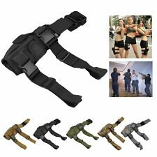 Adjustable Tactical Military Molle Army Pistol Gun Drop Leg Thigh Holster Pouch