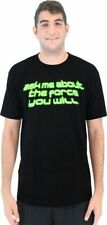 Adult Men's Star Wars Ask Me About The Force You Will Yoda Black Flip T-shirt