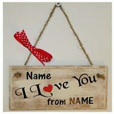 I Love You, wooden plaque/sign, Valentines,Wedding, Engagement, Shabby Chic HOME