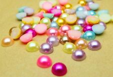 New 8MM 100pcs Half Pearl Bead Flat Back Scrapbook for Craft FlatBack Pick