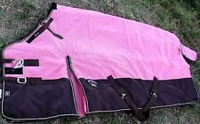 1200D Turnout Waterproof Horse WINTER BLANKET HEAVY WEIGHT Pink 542G